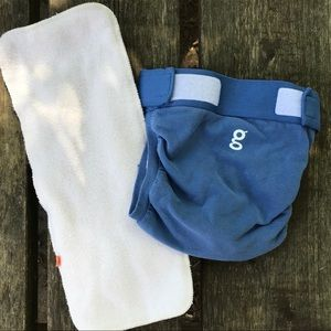 G Diaper with micro fleece insert